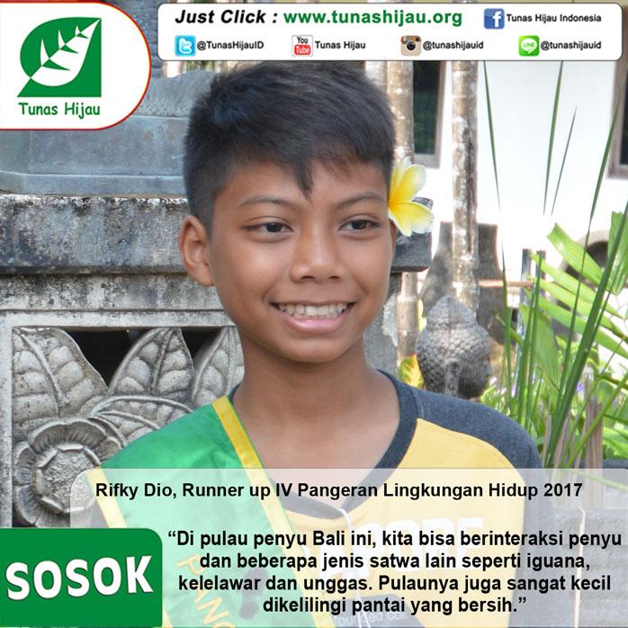 Rifky Dio, Runner Up IV Pangeran LH 2017, Kagum Dengan