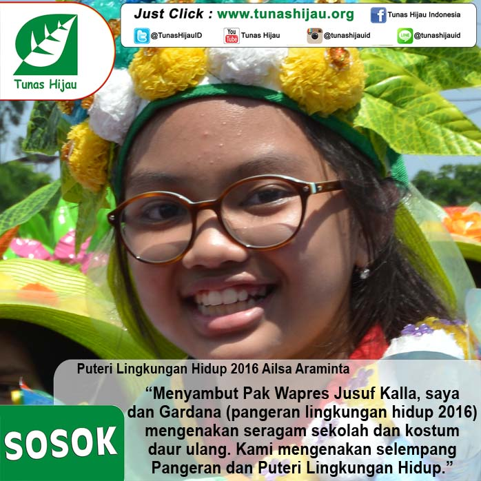 Puteri Lingkungan Hidup 2016 Ailsa Araminta