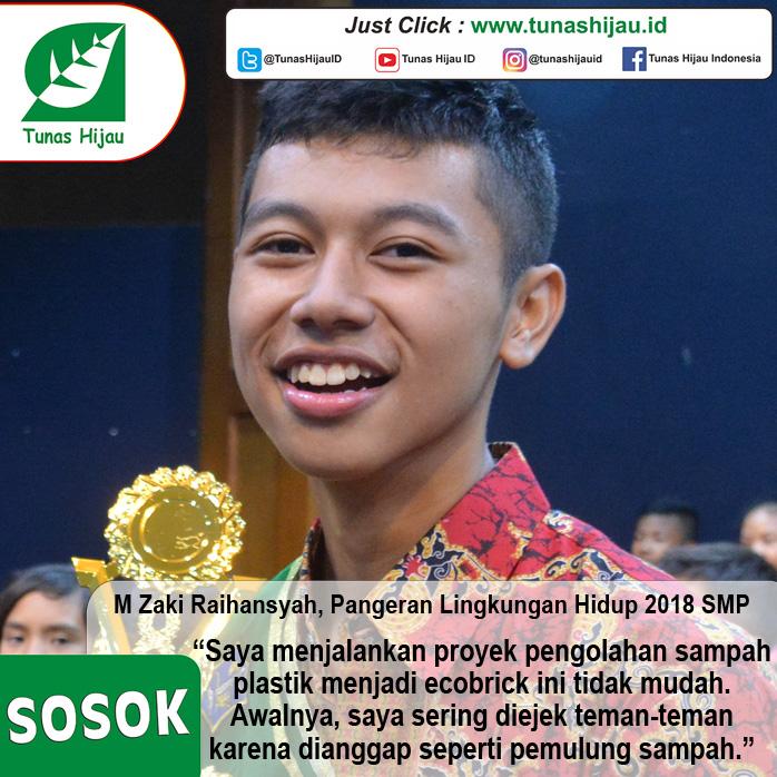 M Zaki Raihansyah, Pangeran Lingkungan Hidup 2018 SMP Olah