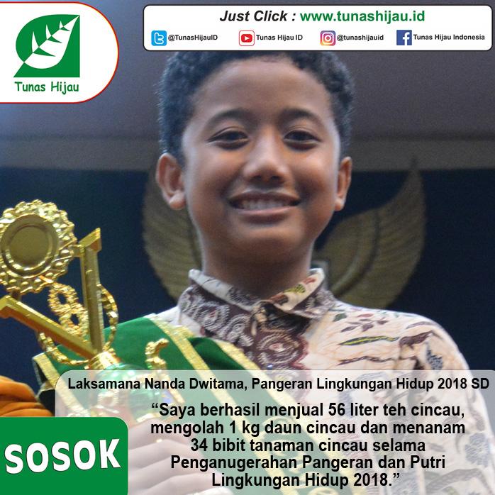 Laksamana Nanda, Pangeran Lingkungan Hidup 2018 SD
