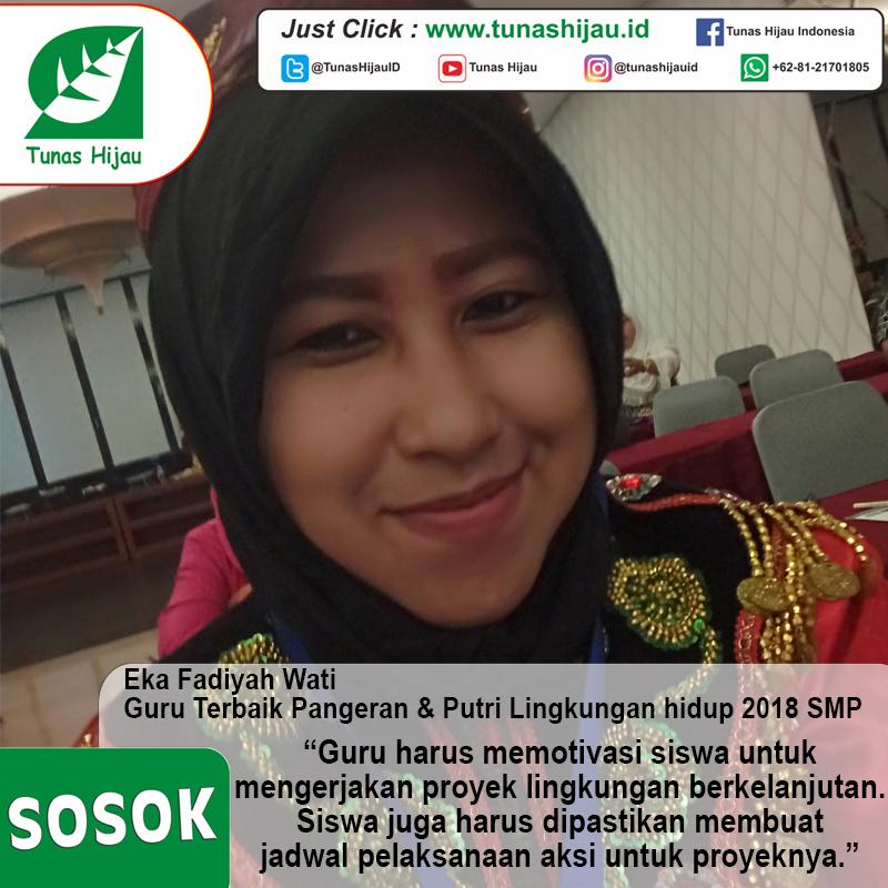 Eka Fadiyah Wati, Guru Terbaik Pangeran & Putri Lingkungan