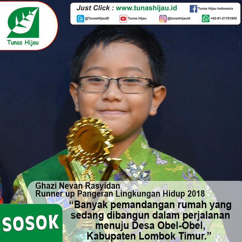 Ghazi Nevan Rasyidan, Runner Up Pangeran Lingkungan Hidup