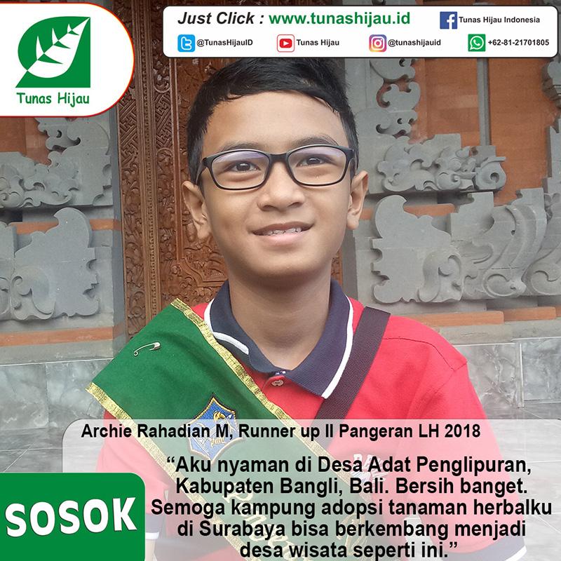 Archie Rahadian M, Runner Up II Pangeran LH 2018