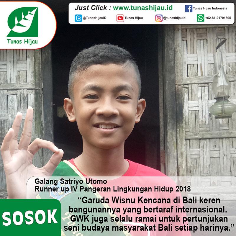 Galang Satriyo Utomo, Runner Up IV Pangeran Lingkungan