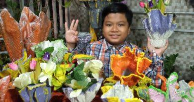 Adhigana Romzi Prawira, Olah Handuk Bekas Untuk Pot