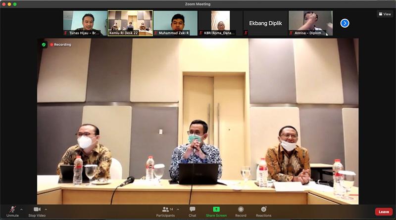 Pangeran LH 2018 Zaki Raihansyah Ikuti Asean Italy Youth Conference 2021