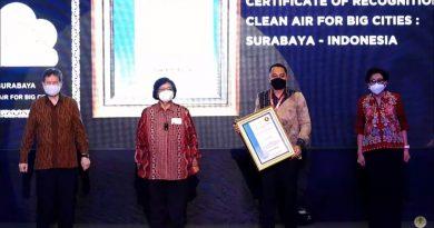 Penghargaan Udara Terbersih se-Asia Tenggara untuk Kota Surabaya